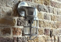 Items similar to Bulkhead heavy cage vintage industrial lighting wall sconce lamp - 30 cm / 12 inch on Etsy Industrial Wall Lights, Vintage Industrial Lighting, Retro Lighting, Industrial Metal, Industrial Restaurant, Restaurant Lighting, Bathroom Sconces, Wall Sconces, Cage