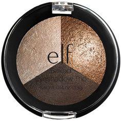 e.l.f. Studio Baked Eyeshadow Trio, 81292 Brown Bonanza, 0.14 oz, Multicolor