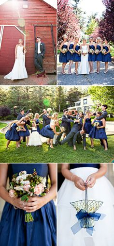 A Navy white and silver wedding is a beautiful color scheme for the non-girly girl brides who still love beautiful weddings.