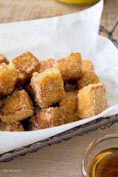 Leckere knusprig süße French-Toast Würfel