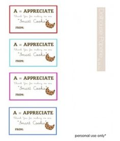 cookie tags for teachers