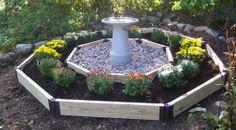 Kinda like this design of birdbath garden too!