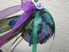 peacock themed party | Peacock Ornament Party Mardi Gras Bridal Shower Wedding Favor Sun ...