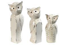 S/3 Table Decor, Owl Family on OneKingsLane.com