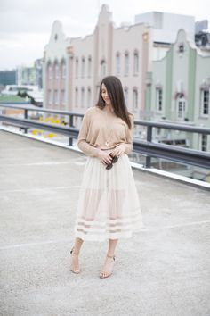 Ada Spragg | Not Your Nanna's Sewing | DIY Sheer Midi + Shorts