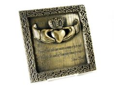 Irish Blessing Claddagh Plaque Bronze Finish Irish Made  Price : $84.95 http://www.biddymurphy.com/Irish-Blessing-Claddagh-Plaque-Bronze/dp/B00GJQCF4I