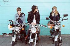 Motor Bike Chicks by Terry Barentsen, via Flickr