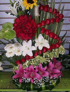 Tropical Flower Arrangements, Church Flower Arrangements, Church Flowers, Beautiful Flower Arrangements, Funeral Bouquet, Funeral Flowers, Beautiful Rose Flowers, Luxury Flowers, Victorian Flowers