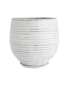 Gray Stripe Planter – McGee & Co.