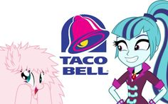 Fluffpuff and sonata dusk in taco Bell