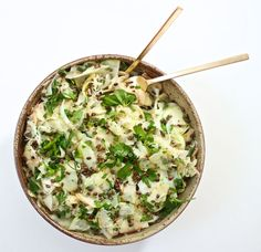 Thanksgiving 2015: Shaved Apple and Fennel Salad with Crunchy Spelt