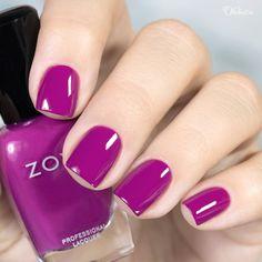 Zoya Nail Polish in Rie Purple And Pink Nails, Purple Nail Polish, Zoya Nail Polish, Nail Polish Colors, Pretty Nail Colors, Pretty Nails, Nail Paint Shades, Acrylic Nail Powder, Nail Polish Designs