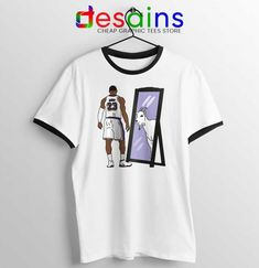 LeBron James Mirror GOAT Ringer Tee Los Angeles Lakers T-shirts Jordan 21, Jeep Clothing, Donald Glover, 17 Black, One Piece Manga, Ringer Tee, Los Angeles Lakers