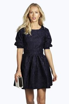 Boutique Lucy Detail Skater Dress at boohoo.com