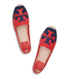 Dark Red Canyon / Royal Navy Tory Burch Jamie Espadrille