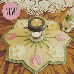 Add some sunshine to your winter days with this gorgeous new pattern kit! Check out our spring line!