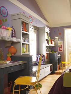 Diamond Cabinetry eclectic home office