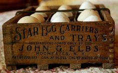Patented Egg Carrier Egg Crates, Wooden Crates, Wooden Boxes, Pallet Boxes, Primitive Antiques, Country Primitive, Vintage Antiques, Primitive Kitchen, Primitive Decor