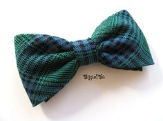 Men's Bow Tie Preppy Blue And Green Plaid by TangledTiesBowTies, $14.00