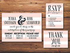 Wedding Invitation Suite Printable