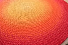 Deposit for Ombre Sunset braided rug Made to by greenatheartrugs, $225.00