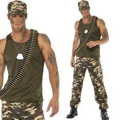 Vest - A soft khaki green vest top in a lightweight material. Green Vest, Khaki Green, Soldier Costume, Fancy Dress Outfits, Army Soldier, Printed Trousers, Halloween Disfraces, Halloween Costumes, Halloween 2018
