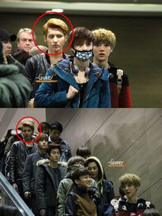 EXO's Kris and his death stare !!!