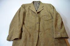 Zegna Soft Tan Blue Plaid Cotton Wool Sport Coat Jacket 50 R EU 40R US