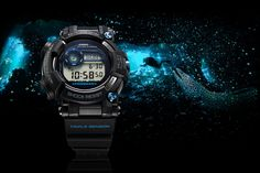 """Casio G-Shock Frogman - """"A very special, high-end dive watch from G-SHOCK's Master of G line. The Frogman is optimized for use at sea, Casio Frogman, Casio G Shock Frogman, Casio G-shock, Casio Watch, G Shock Watches, Sport Watches, Patek Philippe, Tag Heuer, Omega"""