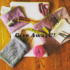 I'm giving away a 3-pack notion pouch set!  It's so easy!  1. Like my picture  2. Tag 3 friends 3. Ask them to follow me 4. You are entered to win!  Give away ends August 7th!! Ready! Set! Go!  #clcdiyfest #knitkits #knitting #diy #craftlakecity  www.cainandcable.com