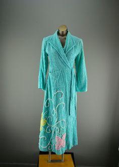Vintage 1930s Chenille Robe ~ 30s Rose Blush Chenille Bathrobe ...