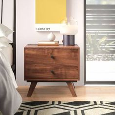 Vintage and retro decor: know 60 ideas to decorate with this style - Home Fashion Trend Brown Nightstands, 2 Drawer Nightstand, Bedside Cabinet, Living Room Essentials, Panel Headboard, End Tables With Storage, Upholstered Platform Bed, Bed Styling, All Modern