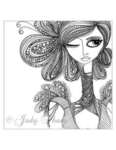 Black Caviar Illustration by Jody Pham Mandala Art, Mandala Design, Zentangle Patterns, Zentangles, Doodle Patterns, Border Embroidery Designs, Doodle Art Designs, Afro Art, Zen Art