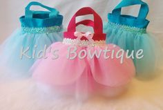 10 Disney Princess Cinderella PINK dress Inspired Party Favor Tutu Bags - Princess Tutu Party Gift Bags. $109.50, via Etsy.