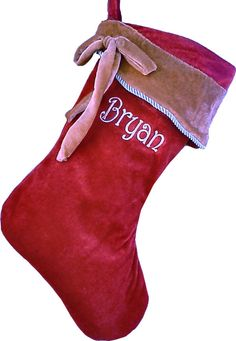 christmas stockings | ... all christmas stockings personalized velvet christmas stocking $ 19 95
