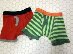 tiny little boxer briefs tutorial (from old shirts, if you want).