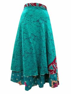Beach Wrap Skirts Vintage Silk Sari Turquoise Blue Reversible Wrap Around Skirt  #mogulinteriordesigns @ http://www.amazon.com/dp/B00KL6YNSI