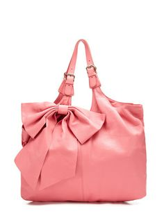 Red Valentino Leather Bow Shoulder Bag 91