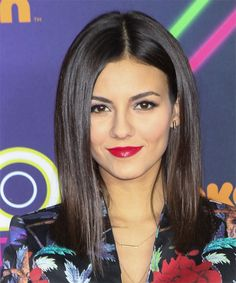 Victoria Justice Hairstyle - Long Straight Formal - Dark Brunette