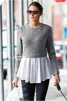 Women's round neck long-sleeved sweater(2 colors)_Sweaters_CLOTHING_Voguec Shop