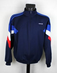 vintage adidas paris france blue #80s trefoil rare tracksuit jacket l from $59.0