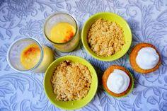 Cupcake tarte au citron, crumble aux fruits rouges, crème caramel