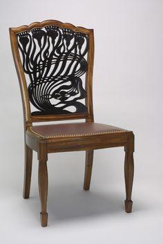Art Nouveau Mackmurdo Thistle Chair by Wm. Doub Custom Furniture.