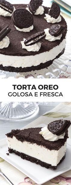 Torta Oreo: abbiamo trasformato i famosi biscotti in una fresca e golosa torta, facilissima da preparare! [Oreo cheesecake]