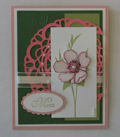 Greeting Card Mom Hand Made Flower Mother's Day by Rubberredneck, $5.95