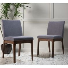 Christopher Knight Home Kwame Mid-Century Fabric Dining Chair (Set of 2) | Overstock.com Shopping - The Best Deals on Dining Chairs