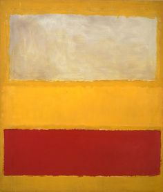 Mark Rothko (American (born Russia, Dvinsk 1903–1970 New York City)   No. 13 (White, Red on Yellow), 1958, oil and acrylic with powdered pigments on canvas, The Metropolitan Museum of Art, NY.