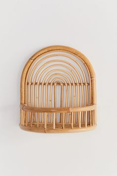 Shop Rattan Arc Wall Shelf at Urban Outfitters today. Wicker Shelf, Wicker Baskets, Bamboo Shelf, Circle Shelf, Curved Walls, Rattan Furniture, Ceramic Furniture, Cane Furniture, Oriental Furniture