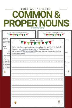 The free common and proper nouns worksheets I will be sharing today are a must have if you are struggling to teach your kids this concept.
