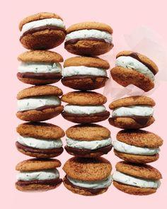 Coffee-Mint Chocolate Ice Cream Sandwiches Recipe